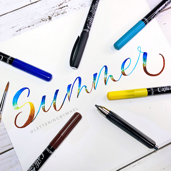 How to to create your Summer Brush Lettering!